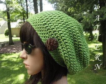 Crochet Hat Pattern - Slouchy Hat - Crochet Slouchy Hat, Slouchy Beanie, Seamless, Crochet Unisex Hat Pattern, Hat Pattern, #203