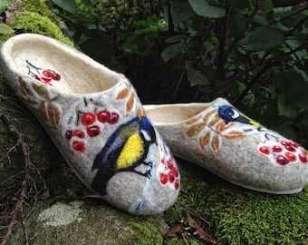 Felted Slippers- Winter spirit Made to order