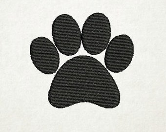 Paw Print, Embroidery Design, pes and jef format (75) Instant Download