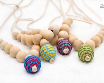Organic Teething necklace Nursing pendant necklace - choose your color