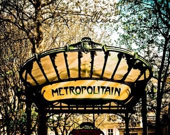 Parisian Abysses Metro Station-Fine Art Photography,Paris,France,multiple sizes available,Architecture,Travel,Entrances,Subway,Montmartre