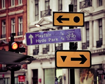 London Street Sign-London,England-ColorFine Art Photography-Multiple Sizes Available,Travel, London, Mayfair,Hyde Park