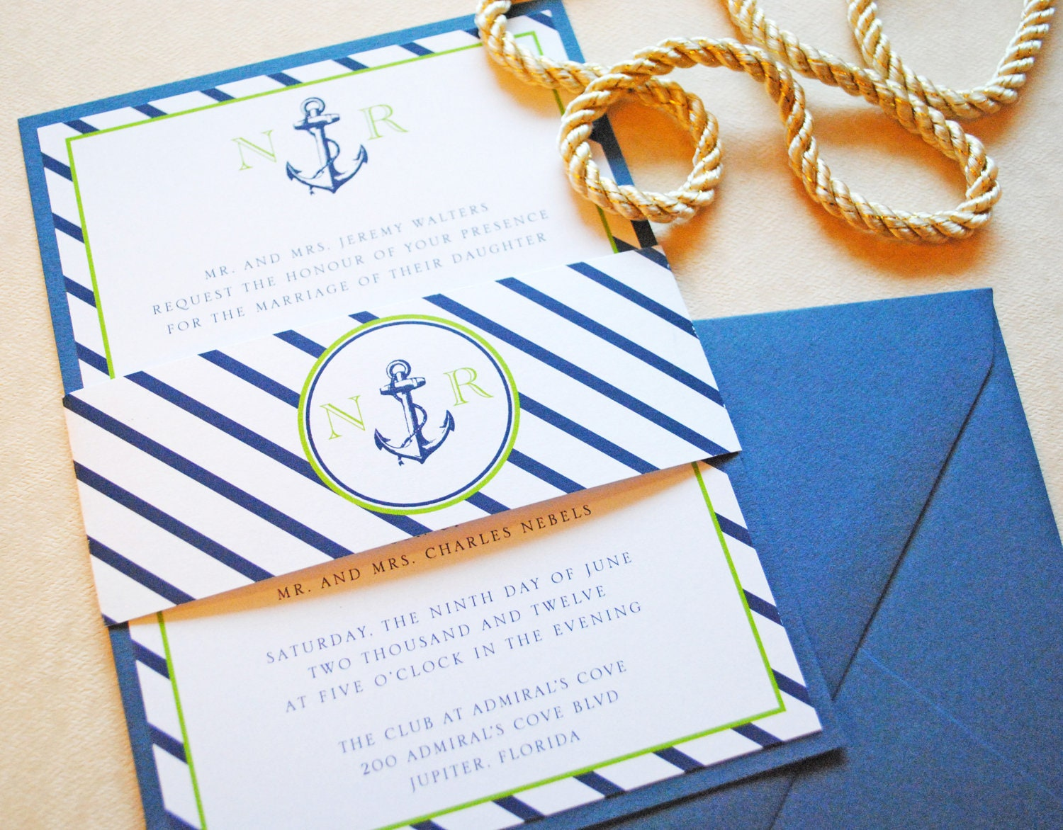 nautical wedding invitation nautical invitations anchor, Wedding invitations