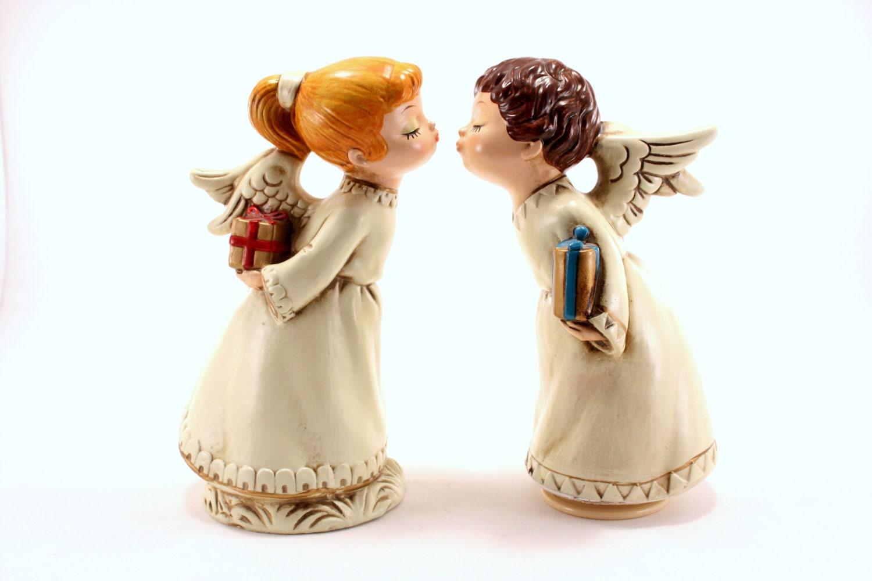 Kissing Hawaiian Angel Figurines From Hawaii - Full Naked Bodies-3145