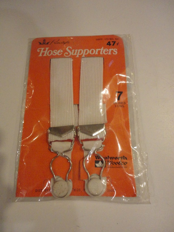 """Vintage Primstyle Hose Supporters Woolworth/Woolco 7"""" Long Unopened"""