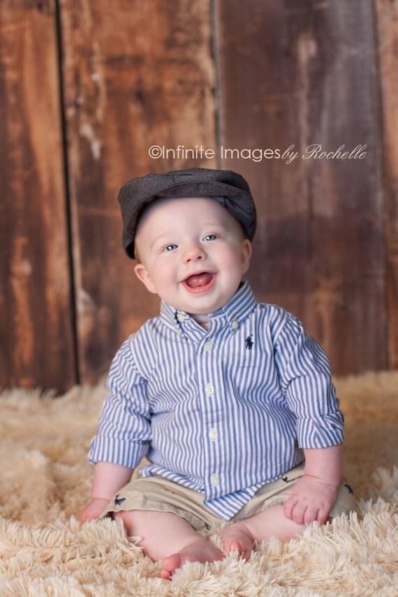 DARK GRAY Newsboy, Newborn Newsboy Cap, Baby Hat, Infant Cap, Photography Prop, Photo Prop