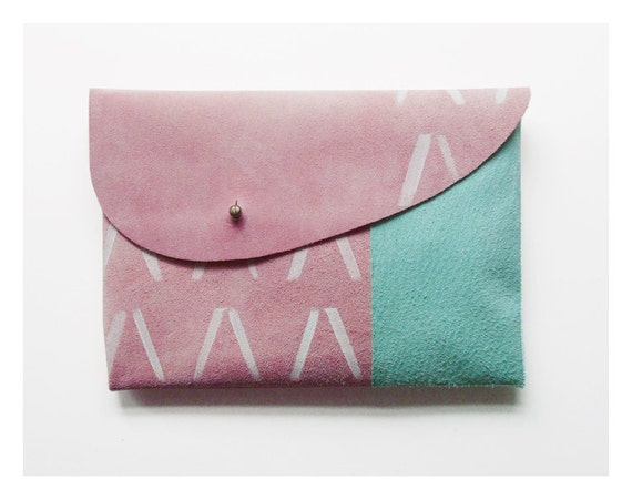 MIXED CLUTCH (m) // pink mint white