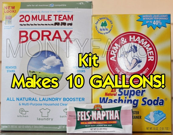 10 Gal Kit Fels Naptha Washing Soda Borax Homemade Laundry