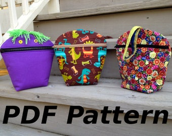 PDF Pattern - Games and More Bag - all purpose bag for all ages - instant download