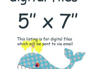 "ALL my prints, DIGITAL file , Art for Children , Kids Wall Art, Baby Girl Room Decor, 5"" x 7"", DIGITAL image"