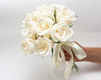 Bridesmaid bouquet, bridesmaids flowers, paper flowers, wedding flowers, flower bouquet, paper flower bouquet, bouquet bridal