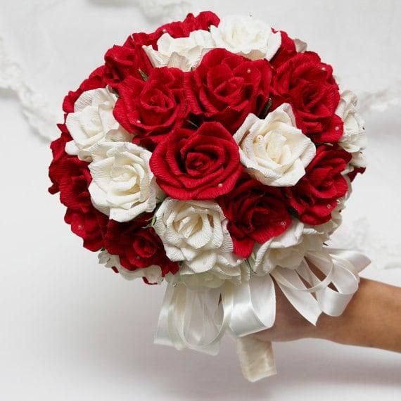 Paper Wedding Bouquet Wedding Bouquets Bridal Bouquet Paper Bouquet Bridesmaids Bouquets