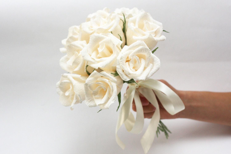 Bridesmaid Bouquet Bridesmaids Flowers Paper Flowers