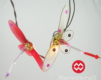 Battery or Plug 20 Dragonfly Handcraft Multi Colour Fairy Lights String PARTY Wedding Floor Hanging Gift Home Decor Living Bedroom Holiday