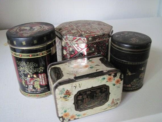Vintage English Tea Tins.