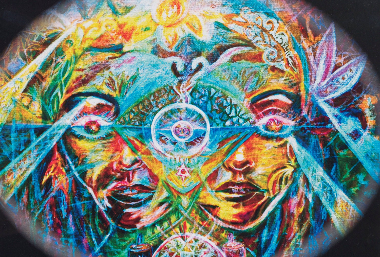Psychedelic Abstract Work Hippie Artwork For The Soul