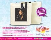 Rock n Roll Tote Bag / Elvis Presley (Black Leather)