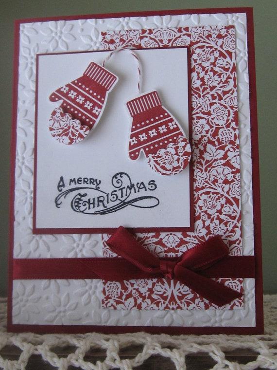 Stampin Up Handmade/Stamped Greeting Card: Christmas/Holiday