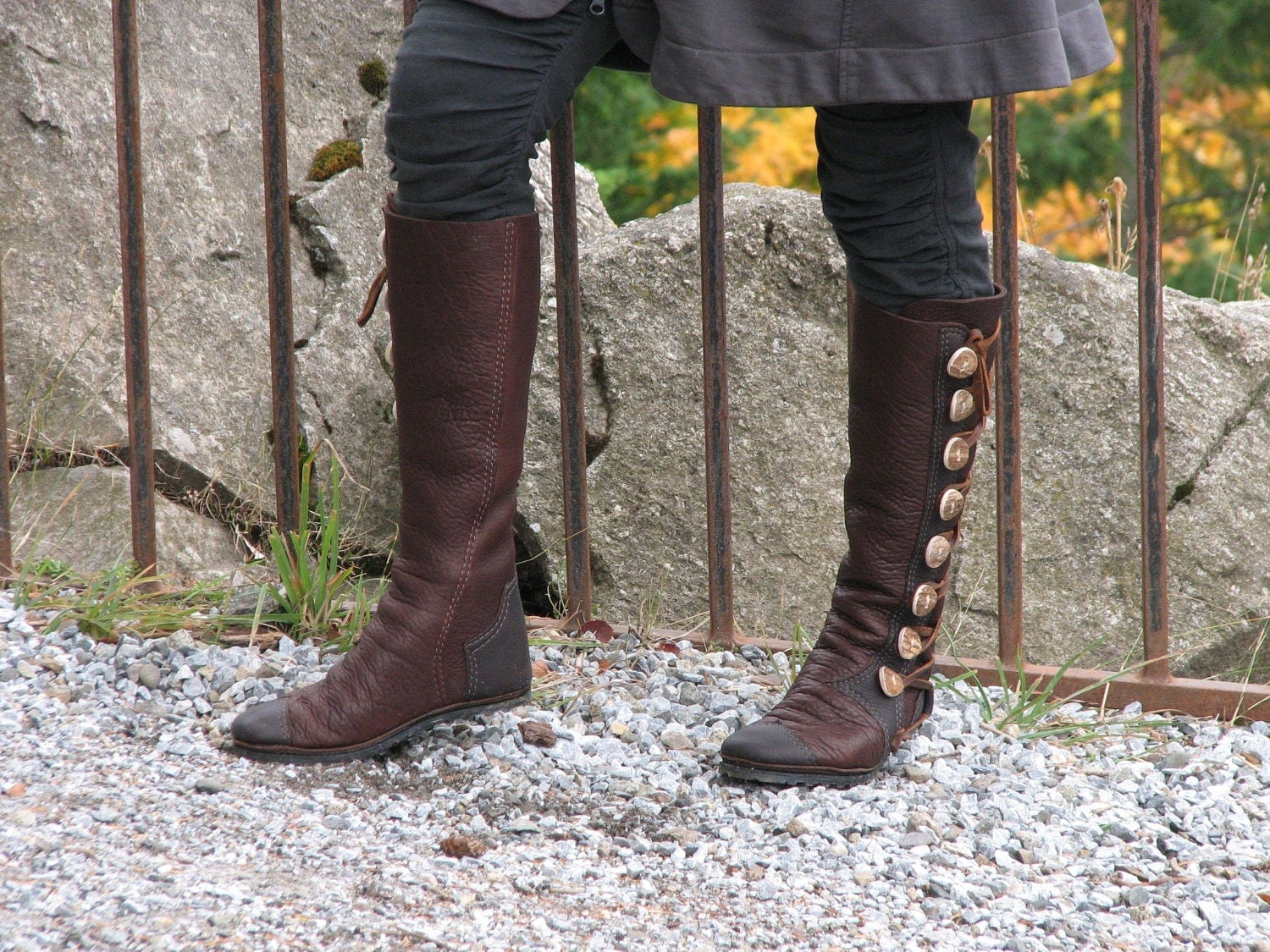 knee high s boots custom leather moccasin