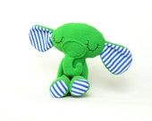Soft green elephant. Lovely and safe toy.