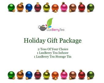 Tea Gift Package - 2 Teas, 1 Infuser, 1 Tin