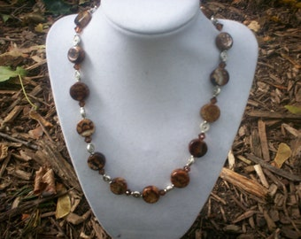 Brown Plastic Bead Necklace