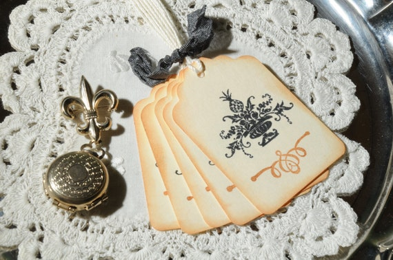 Pineapple Urn Gift Tags  /  Favor Tags  /  Wish tags