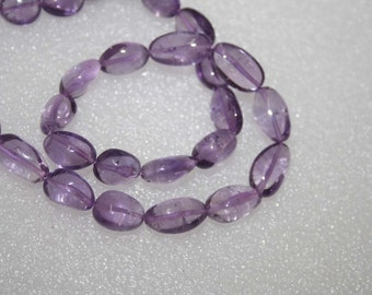 Natural AAA Quality Pink Amethyst 8X10  to 9X13mm Smooth Oval Nuggets Gemstone Beads 9 Inches SA011