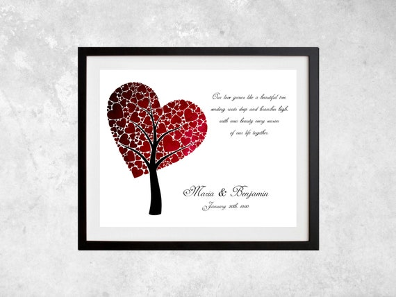 Our Love Grows Like A  Beautiful Tree - 8.5x11 - also available in 13x19, 11x14, and 5.5x8.5 - see listing details