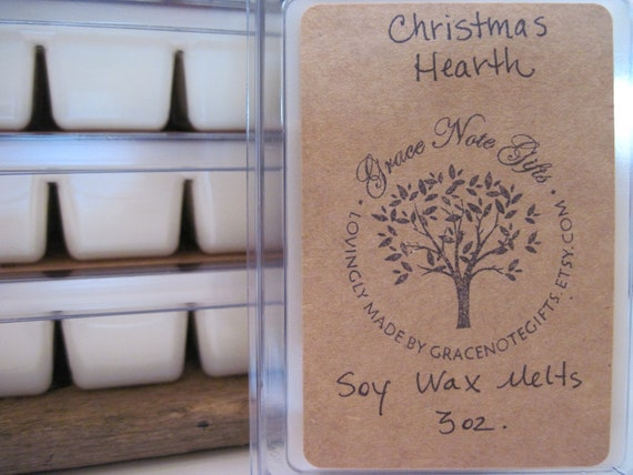 CHRISTMAS HEARTH Soy Wax Tarts, Christmas Hearth Scented Soy Wax Melts, Soy Tarts, Soy Melts, Wax Tarts, Hand Poured Candle Melts