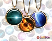 SPACE EPISODES - 1 inch and 1.5 inch Printable digital download images for Round pendants Bezel trays Bottle caps Glass cabochons Crafts DIY