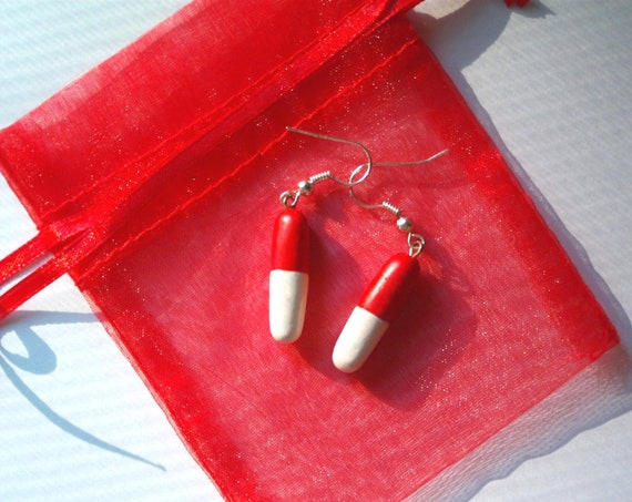 Take Two Pill Capsule Earrings