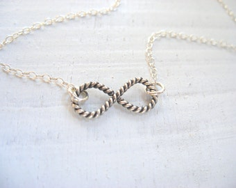 Silver Infinity bracelet, nautical jewelry, infinity jewelry, friendship bracelet best friends