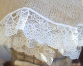 Burlap and Lace placemats (set of four) - Wedding - Home Decor - Shower - loveinamasonjar