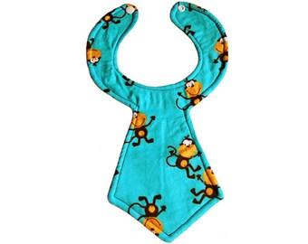 Monkey Baby Neck Tie Bib