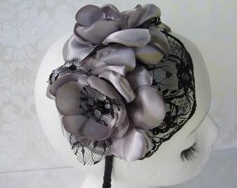 Black Bridal Headband / Gothic Inspired / Portia