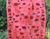 Baby Blanket in Red Velvet
