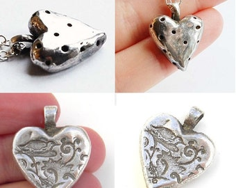 CUSTOM Silver Heart Shaped Necklace