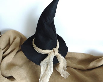 Halloween decor witch hat, Witches, primitive Halloween prop wicca