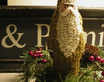 PrimiTive Folkart Mustard Chalkware Santa Hooked Rug PATTERN ONLY Beaconhill Collectibles