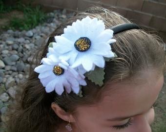 Back to school daisy headband