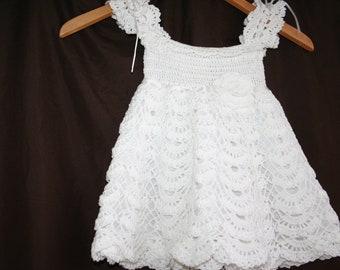 Made To Order - Crochet baby girl Blessing/Christening dress, baby girl gift