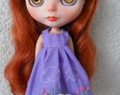 "Dress Embroidery rococó ""SHEEP DREAMS"" for Blythe Doll"