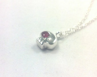 skully sterling silver necklace