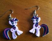 My Little Pony Twilight Sparkle Shrinky Dink Earrings