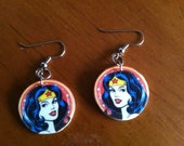 Wonder Woman Shrinky Dink Earrings