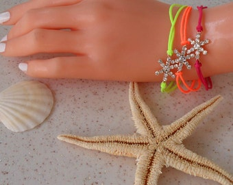New - Neon Bracelet - Snow Flake -  Bangle - Bracelet - Summer Style - Beach - Summer - Friendship Bracelet