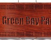 Personalized African Bubinga Cribbage Board