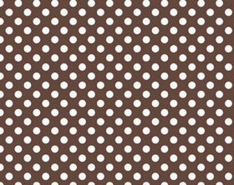 Small Dots Brown Riley Blake - 1 One Yard Cut.