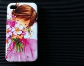 Iphone 5 case, iphone 4s case , case for Iphone 4 ,mobile Case handmade: Flower for You